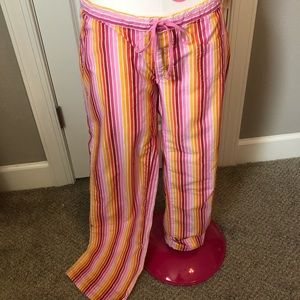 Victoria's Secret PINK  striped pajama pants